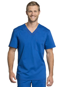 Cherokee Workwear Men's Tuckable V-Neck Top Royal (WW755AB-ROY)