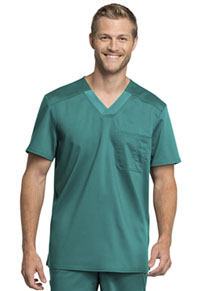 Cherokee Workwear Men's Tuckable V-Neck Top Teal Blue (WW755AB-TLB)