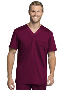 Cherokee Workwear Men's Tuckable V-Neck Top Wine (WW755AB-WIN)