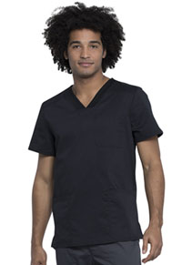 Cherokee Workwear Men's V-Neck Top Black (WW760AB-BLK)
