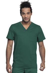 Cherokee Workwear Men's V-Neck Top Hunter Green (WW760AB-HUN)