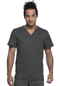 Cherokee Workwear Men's V-Neck Top Pewter (WW760AB-PWT)