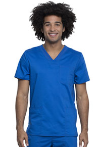 Cherokee Workwear Men's V-Neck Top Royal (WW760AB-ROY)