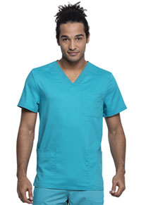 Cherokee Workwear Men's V-Neck Top Teal Blue (WW760AB-TLB)