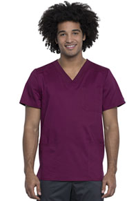 Cherokee Workwear Men's V-Neck Top Wine (WW760AB-WIN)