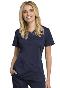 Cherokee Workwear V-Neck Top Navy (WW770AB-NAV)
