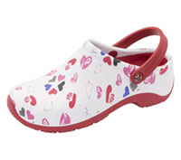 Anywear Anywear Injected Clog w/Backstrap Multi Heart, White, Red (ZONE-MHWR)