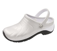 Anywear Anywear Injected Clog w/Backstrap Silver,White,Black (ZONE-SLWB)