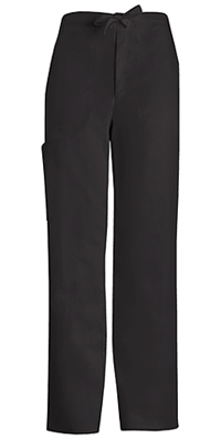 Men's Fly Front Drawstring Pant (1022-BLKV)