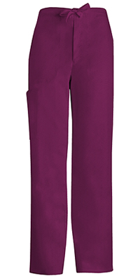 Cherokee Men's Fly Front Drawstring Pant Wine (1022-WINV)