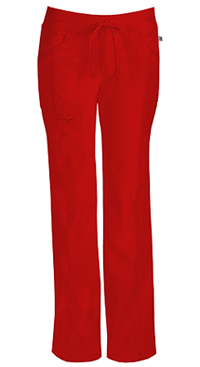 Low Rise Straight Leg Drawstring Pant (1123AP-RED)