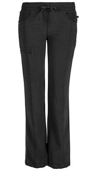 Cherokee Low Rise Straight Leg Drawstring Pant Black (1123A-BAPS)