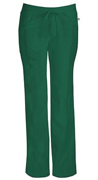 Cherokee Low Rise Straight Leg Drawstring Pant Hunter Green (1123A-HNPS)