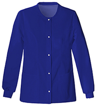 Cherokee Snap Front Warm-Up Jacket Galaxy Blue (1330-GABV)