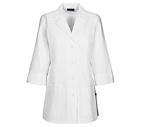 30 3/4 Sleeve Lab Coat White (1470A-WHTD)