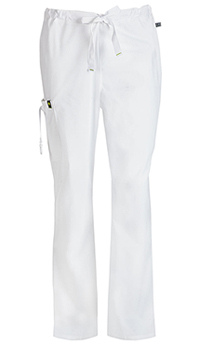 Code Happy Men's Drawstring Cargo Pant White (16001AB-WHCH)
