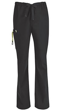 Code Happy Men's Drawstring Cargo Pant Black (16001A-BXCH)
