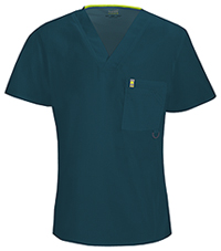 Code Happy Men's V-Neck Top Caribbean Blue (16600A-CACH)