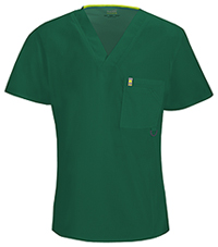 Code Happy Men's V-Neck Top Hunter Green (16600A-HNCH)