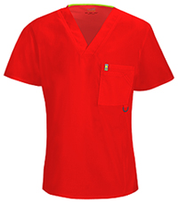 Code Happy Men's V-Neck Top Red (16600A-RECH)