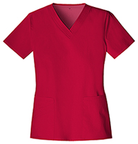 Cherokee V-Neck Top Red (1845-REDV)