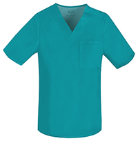 Cherokee Men's Tuckable V-Neck Top Teal (1929-TEAV)