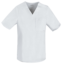 Cherokee Men's Tuckable V-Neck Top White (1929-WHTV)
