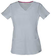 "HeartSoul Break on Through ""Pitter-Pat"" Shaped V-Neck Top in Grey (20710-GRXH)"