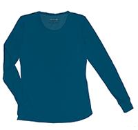 HeartSoul Social Butter-Fly Underscrub Knit Tee Caribbean Blue (20800-CABH)