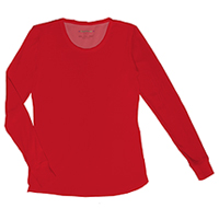 HeartSoul Social Butter-Fly Underscrub Knit Tee Red (20800-RDHH)