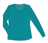 HeartSoul Social Butter-Fly Underscrub Knit Tee Teal Blue (20800-TEAH)