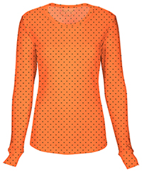 Heartsoul Long Sleeve Underscrub Knit Tee Never-ending Love Orange Crush (20801-NEVO)