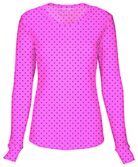 HeartSoul Long Sleeve Underscrub Knit Tee Never-ending Love Pink Party (20801-NEVP)
