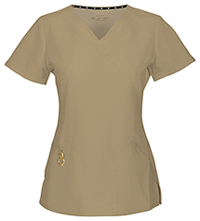 HeartSoul Wrapped Up V-Neck Top Dark Khaki (20971A-KHK)