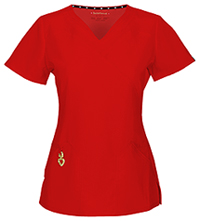 """Wrapped Up"" V-Neck Top (20971A-RDHH) (20971A-RDHH)"