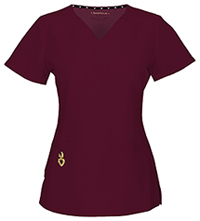 HeartSoul Wrapped Up V-Neck Top Wine (20971A-WIN)