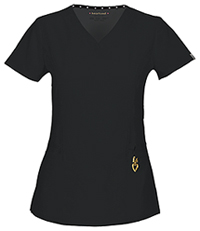 HeartSoul Beloved V-Neck Top Black (20972A-BCKH)