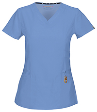 HeartSoul Beloved V-Neck Top Ciel Blue (20972A-CIE)