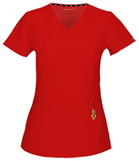 """Beloved"" V-Neck Top (20972A-RDHH) (20972A-RDHH)"