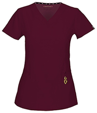HeartSoul V-Neck Top Wine (20972A-WIN)