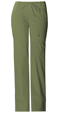 Low Rise Flare Leg Drawstring Cargo Pant (21100P-OLIV)