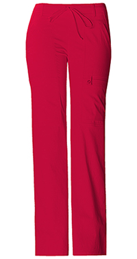Cherokee Low Rise Flare Leg Drawstring Cargo Pant Red (21100-REDV)