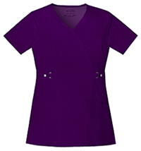 Cherokee Empire Waist Mock Wrap Top Eggplant (21701-EGGV)