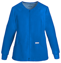 Cherokee Zip Front Knit Panel Warm-Up Jacket Royal (2306-RYLB)