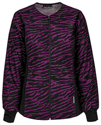 Cherokee Zip Front Knit Panel Warm-Up Jacket Just A Wild Ago (2315C-JUSW)