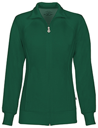 Cherokee Zip Front Warm-Up Jacket Hunter Green (2391A-HNPS)