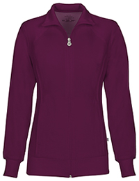 Cherokee Zip Front Warm-Up Jacket Wine (2391A-WNPS)