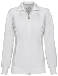 Zip Front Warm-Up Jacket White (2391A-WTPS)