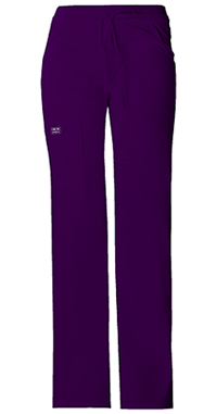 Cherokee Workwear Low Rise Drawstring Cargo Pant Eggplant (24001-EGGW)