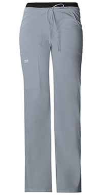 Cherokee Workwear Low Rise Drawstring Cargo Pant Grey (24001-GRYW)